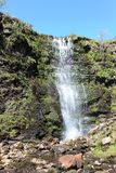 在力量鳃, Whernside北约克郡的瀑布 库存照片