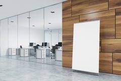 在办公室地板,大厅,边上的垂直的海报 向量例证