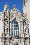 在加利福尼亚大厦的生动的装饰在巴波亚公园,圣地亚哥 免版税库存图片