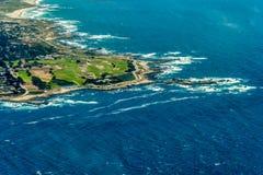 在加利福尼亚空中照片的17英里驱动 免版税图库摄影