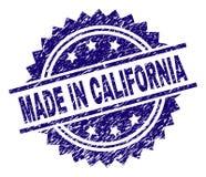 在加利福尼亚邮票封印被构造做的难看的东西 库存例证