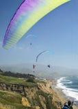 在加利福尼亚10的滑翔伞 库存照片