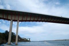 在加利西亚和阿斯图里亚斯之间的桥梁 库存图片