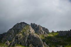 在加利西亚山的美好的风景 库存图片