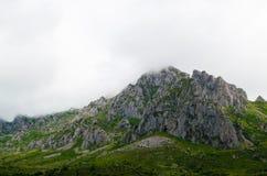 在加利西亚山的美好的风景 免版税库存图片