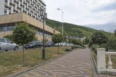 在加加林大道的疗养院Rodnik在Pyatigorsk 库存图片