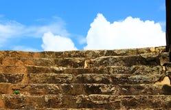 在加勒堡垒的台阶 免版税库存照片