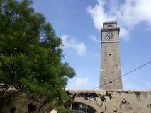 在加勒堡垒的尖沙嘴钟楼,斯里兰卡 库存图片