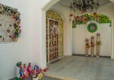 在加勒比样式的圣诞节装饰 免版税库存图片