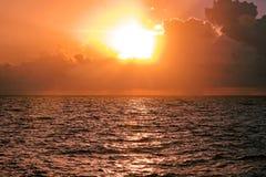在加勒比海的日出 免版税库存照片