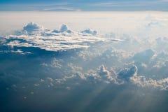在加勒比的云彩 免版税库存图片
