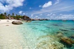 在加勒比的图片完善的海滩 免版税库存图片