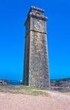 在加勒荷兰堡垒,斯里兰卡的老尖沙咀钟楼 免版税库存图片