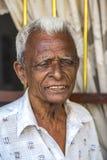 在加勒,斯里兰卡街道上的人  免版税图库摄影