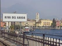 在加尔达湖北部岸的Riva  库存照片