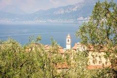 在加尔达湖的Castelletto 库存照片