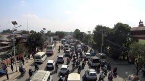 在加德满都的交通堵塞 影视素材