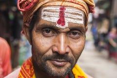 在加德满都街道上的Sadhu  免版税图库摄影