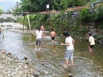洪水在加拉璜 库存照片
