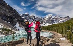 在加拿大人罗基斯的春天 库存照片
