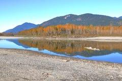 在加拿大` s原野烘干秋天条件 免版税库存照片