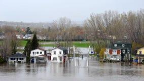洪水在加蒂诺魁北克 库存图片
