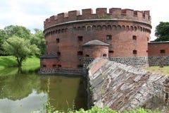 在加里宁格勒附近的被放弃的堡垒 库存图片