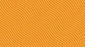 在动态波动,橙色背景的白色弯曲的线 未来几何对角线样式行动背景 4K 库存例证