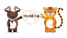 在动物之间的友谊 免版税图库摄影