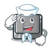 在动画片形状的水手alt按钮 皇族释放例证