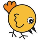 在动画片样式的鸡 向量例证