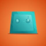 在动画片样式的安全传染媒介例证 安全金属箱子金钱安全和安全金钱概念标志 安全财务 免版税库存照片