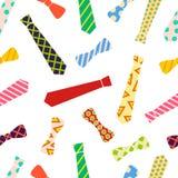在动画片样式的领带和蝶形领结样式 图库摄影