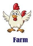 在动画片设计的逗人喜爱的小的雄鸡 免版税图库摄影