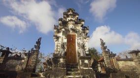 在努沙Penida海岛上的印度寺庙  股票视频