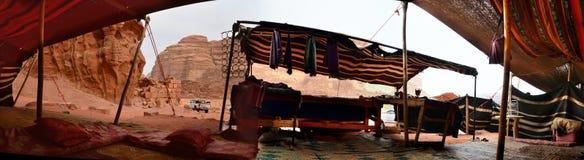 在劳伦斯议院,瓦地伦,约旦的流浪的帐篷 免版税库存照片