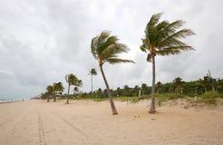 在劳德代尔堡,佛罗里达的多暴风雨的天气 免版税库存图片