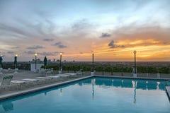 在劳德代尔堡,佛罗里达的美好的日出 免版税库存照片