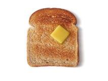 在包括的路径完美上添面包对敬酒 免版税库存照片