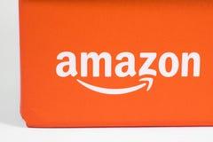 在包装的亚马逊商标 免版税图库摄影