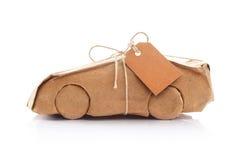 在包装纸包裹的汽车 免版税库存照片