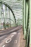 在匈牙利和斯洛伐克之间的伊丽莎白桥梁 免版税库存照片