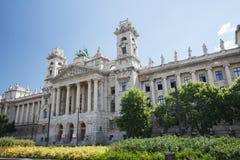 在匈牙利语附近Parli大厦位于的民族志学博物馆  免版税库存图片
