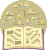 在化学的课本 向量例证