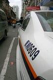 在北京街道上的一辆警车  免版税图库摄影