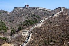 在北京附近的长城 免版税库存照片