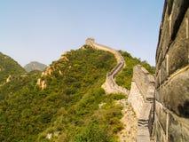 在北京附近的长城 库存照片