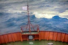 在北冰洋运输在纬度81度 图库摄影