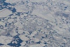 在北冰洋的Icefields 库存照片
