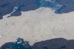 在北冰洋的Icefields 库存图片